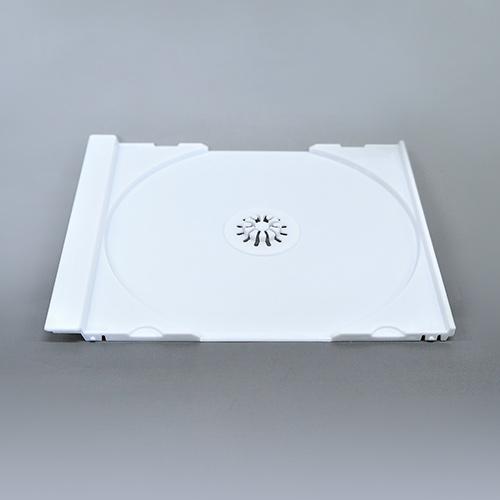 KSシリーズCDジュエルケース シングル白 トレイのみ