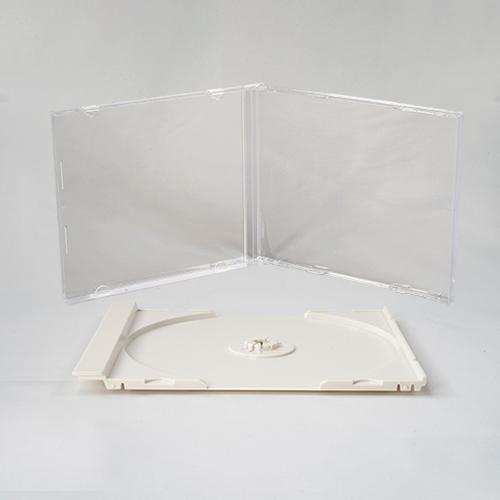 SJシリーズCDジュエルケース シングル白 組立無し