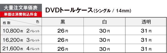 DVDトールケース大量注文価格表