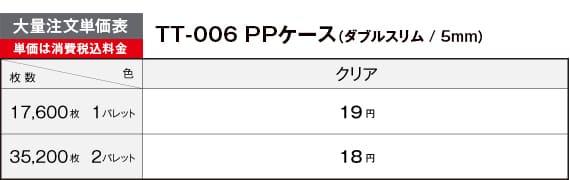 PPスリムケース大量注文単価表