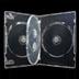 DVDトールケース4枚収納透明