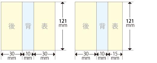 バックインレイ印刷台紙サイズ