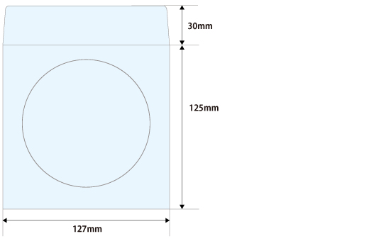窓付紙封筒印刷台紙サイズ